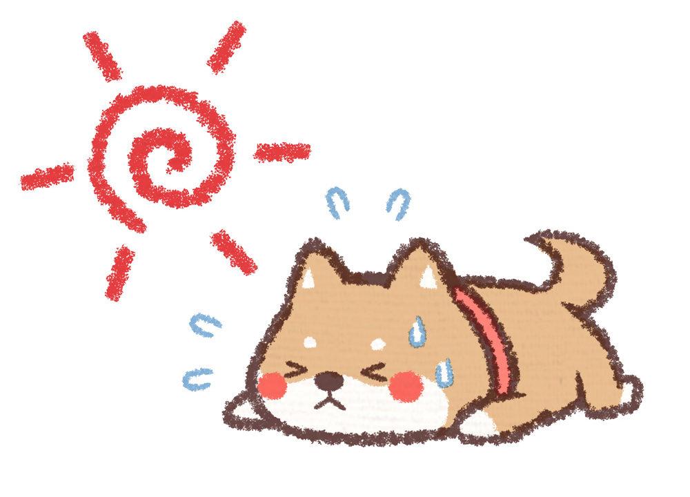 犬 熱中症 イラスト